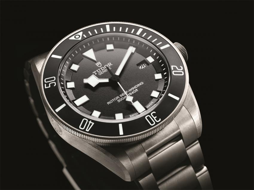 Tudor Pelagos made entirely of titanium and completely satin-finished.