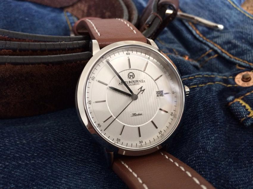 The white dial Flinders by the Melbourne Watch Company