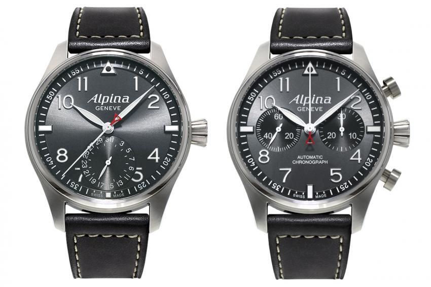 "Alpina StarTimer Pilot Manufacture and StarTimer Pilot Automatic Chronograph ""Sunray"""
