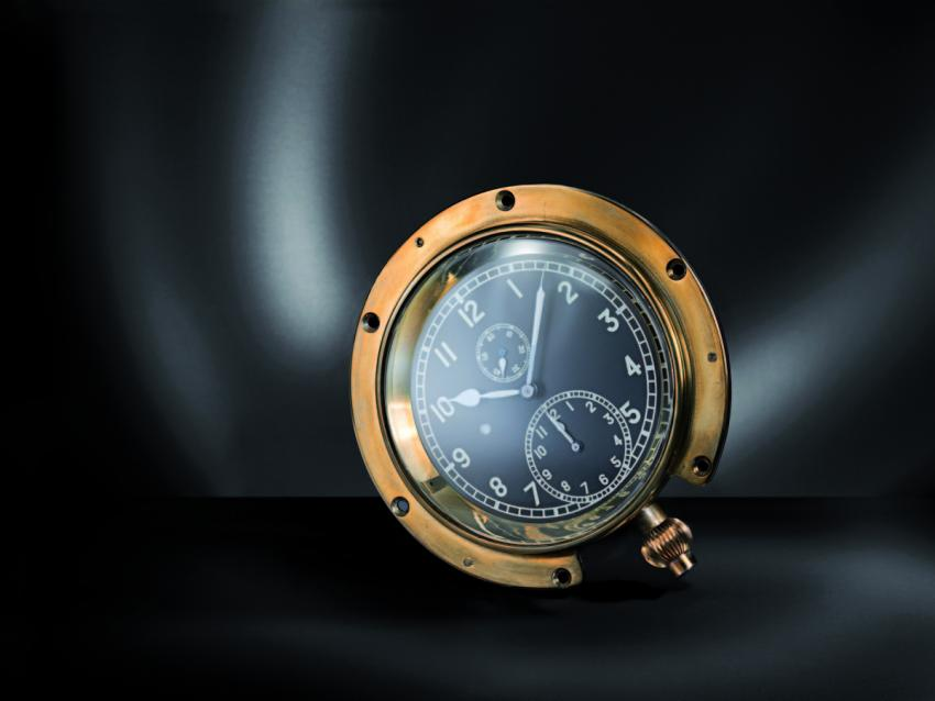 "The ""Time of Trip"", the first dashboard chronograph patented by Heuer in 1911"