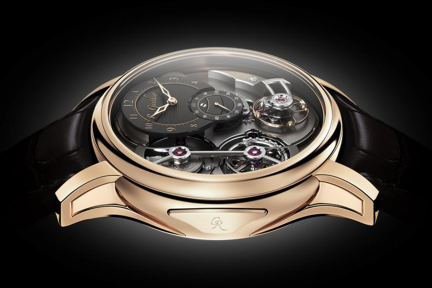 The push-to-wind solution on the Logical One gives a more robust winding mechanism compared to the traditional crown based winding.