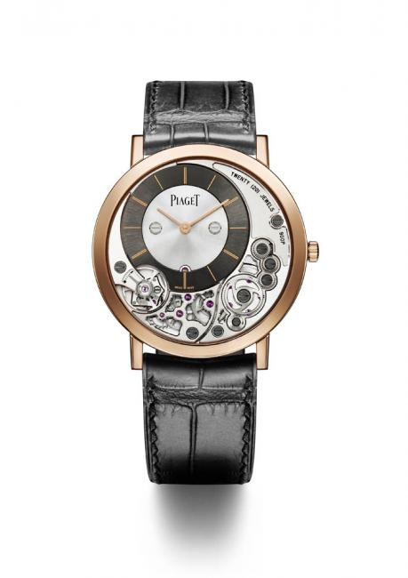 The Piaget Altiplano 38 mm 900P is designed as a single entity, merging the hand-wound calibre with the case elements.