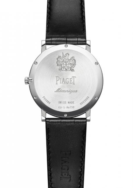 To achieve this extreme slenderness, Piaget watchmakers merged the case and the caliber. for example the back also serves as mainplate for the calibre.