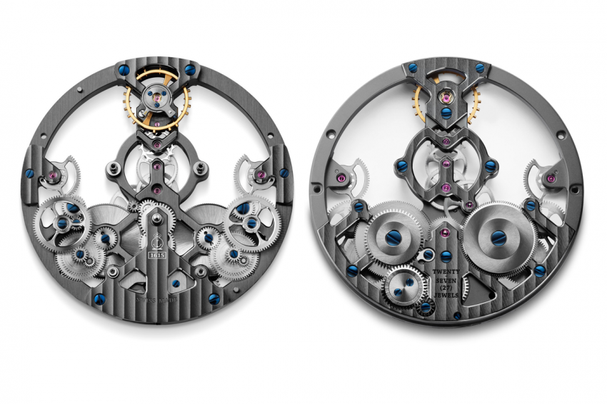 A&S1615 exclusive Arnold & Son skeletonized mechanical movement,