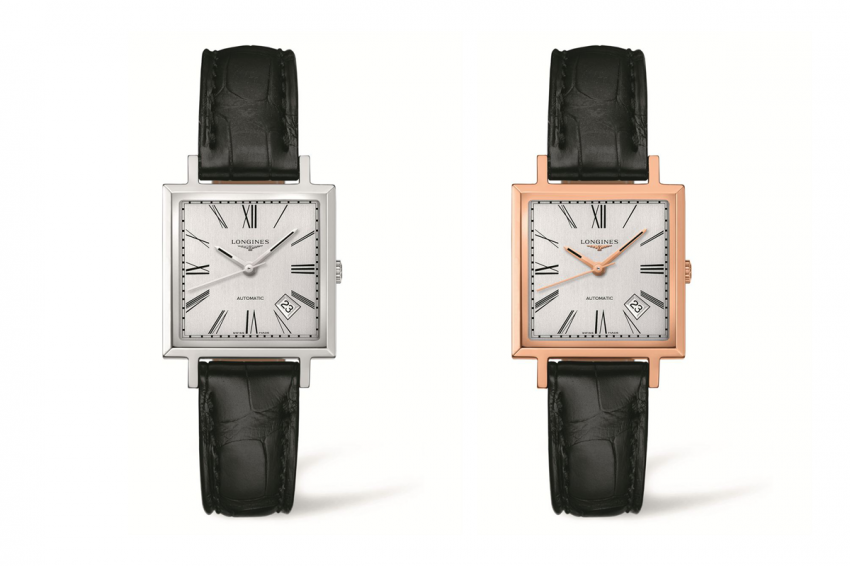 Two Longines Heritage 1968 one in steel and one in rose gold