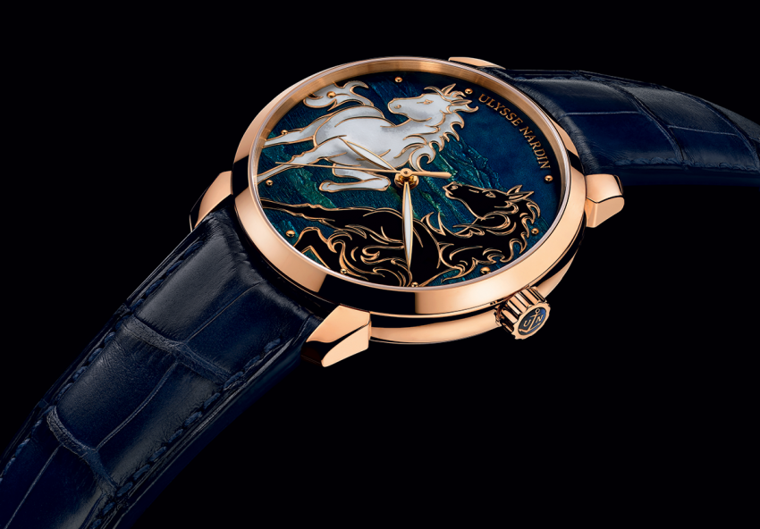 Since 2011 Ulysse Nardin has a long-time collaboration agreement with dial-enameller manufacturer Donzé Cadrans. The Classico Horse is their latest creation.
