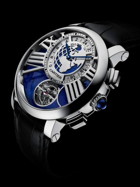 Rotonde de Cartier Earth and Moon watch (photo Laziz Hamani © Cartier 2013)