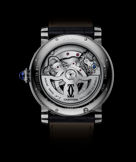 The back of the Rotonde de Cartier Astrocalendaire watch