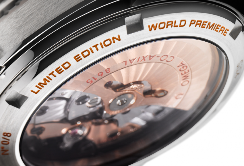 "On the back of the Seamaster Planet Ocean Orange Ceramic, you'll find the ""World Premiere"" engraved."