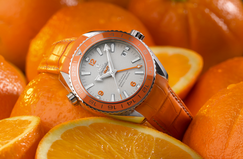 The OMEGA Seamaster Planet Ocean Orange Ceramic