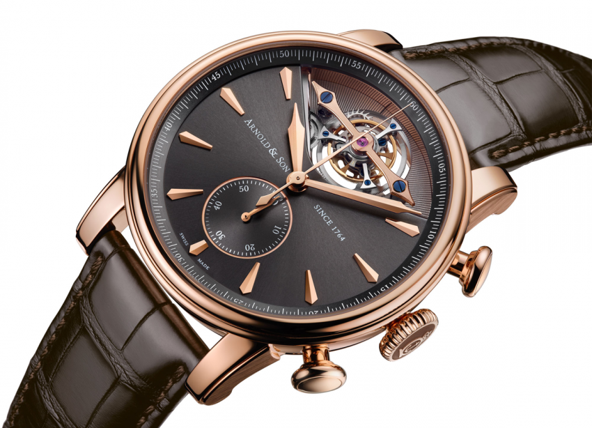 Arnold & Son Royal TEC1 with tourbillon, column wheel chronograph and automatic winding.