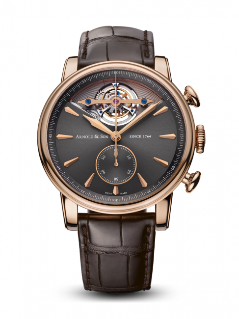 Arnold & Son TEC1 features the brand's first high-frequency tourbillon, with 28,800 vibrations per hour.