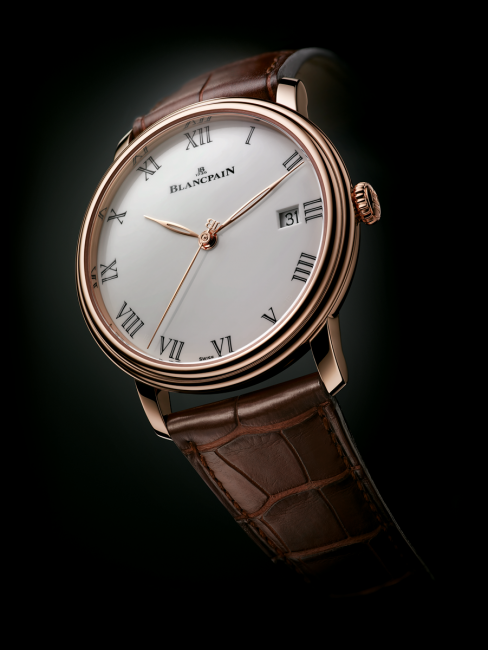 The new Blancpain Villeret with Grand Feu enamel dial and 8 day power reserve Ref. 6630-3631-55B