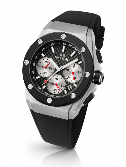 "The equally stunning ""smaller"" version, the 44 mm TW Steel CEO Tech David Coulthard Special Edition CE4019"
