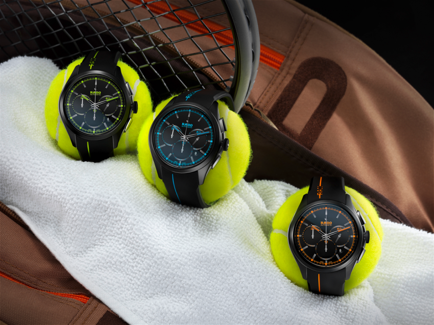 The Rado HyperChrome Court Collection, launched in 2013 is inspired by tennis.