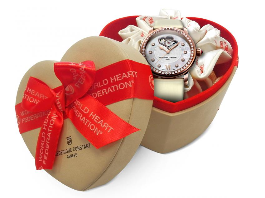 A special Frédérique Constant gift box, designed to support the Hearth and Stroke Foundation of Canada