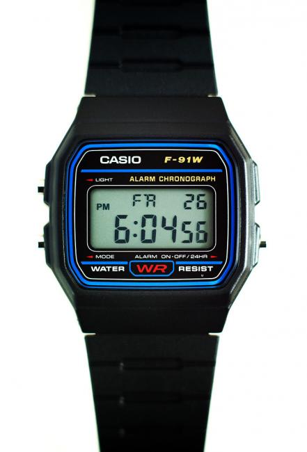 The F-91W introduced in 1991, according to Casio it still sells well