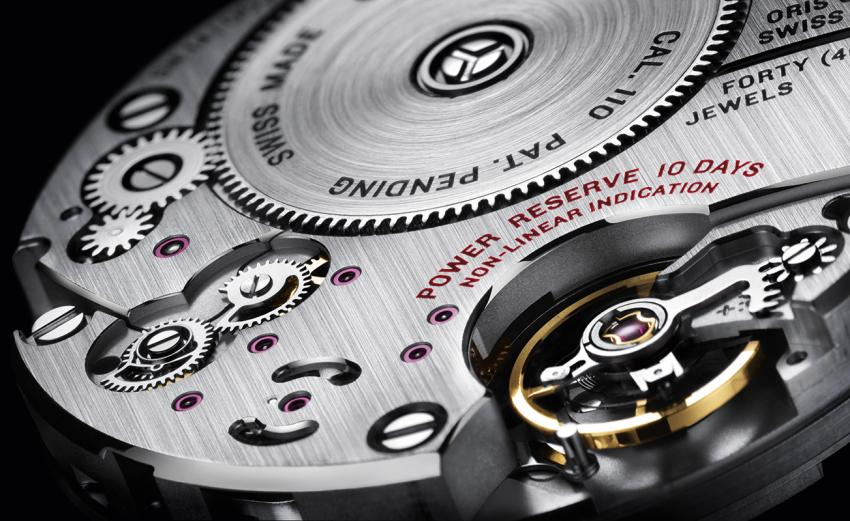 The hand-wound Oris Calibre 110 is the first movement developed from the ground up by Oris since the quartz crisis of the seventies.