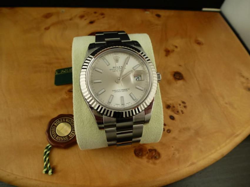 Rolex Datejust 2 Ref. 116334 Fluted 18k WG Bezel Canadian Collector's Set (c) canwatchco.ca
