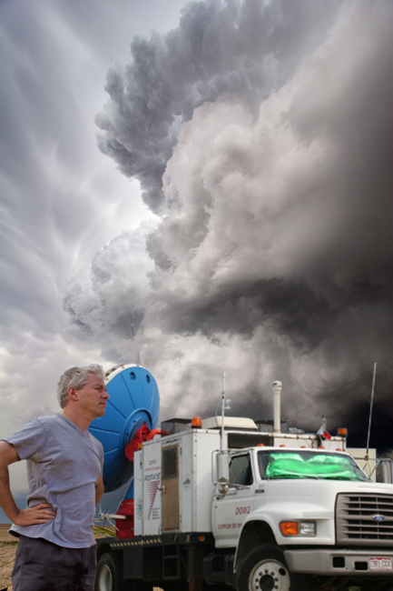 Dr. Joshua Wurman, storm chaser and member of BALL Explorers Club