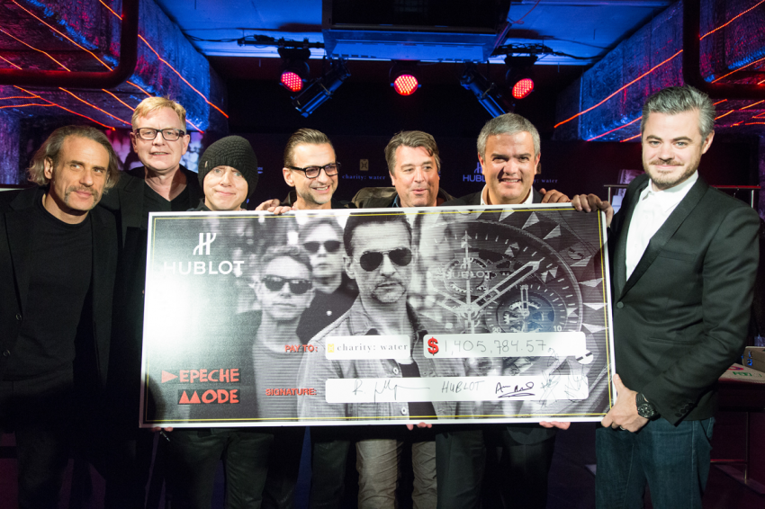 Hublot & Depeche Mode to celebrate another fantastic charitable collaboration benefiting charity: water.