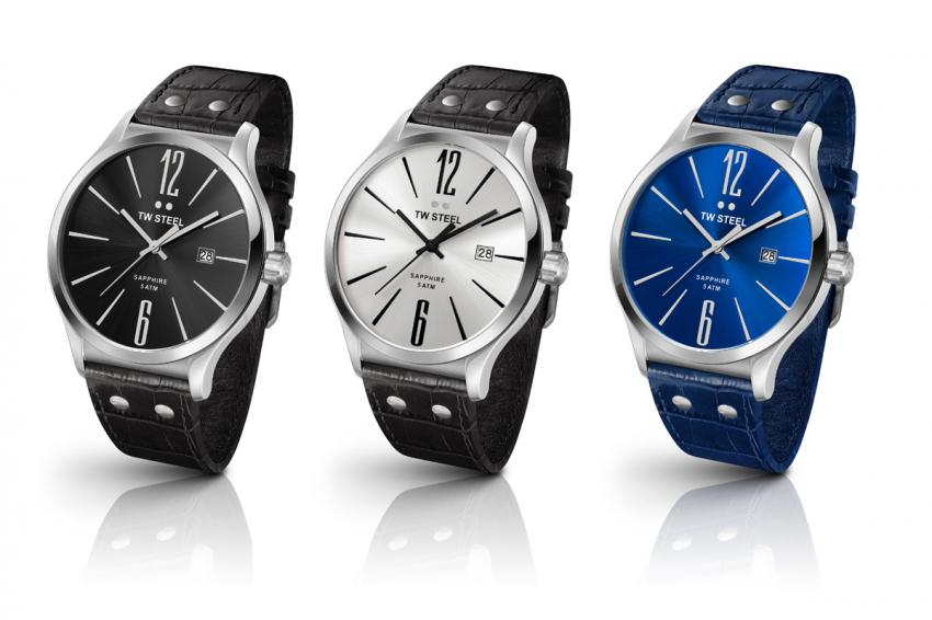 The TW Steel Slim Line in steel: TW1300, TW1301 and the TW1302