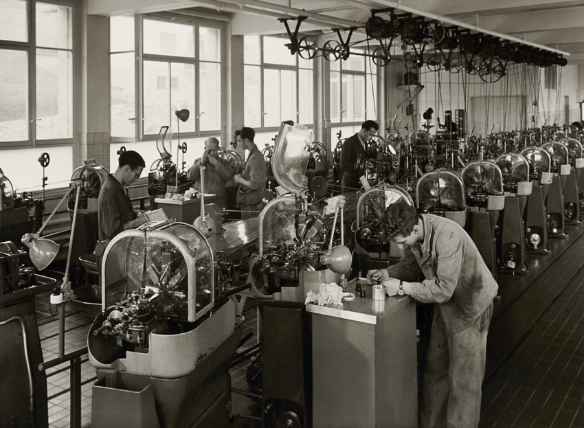 The Oris factory in Malleray, 1945.
