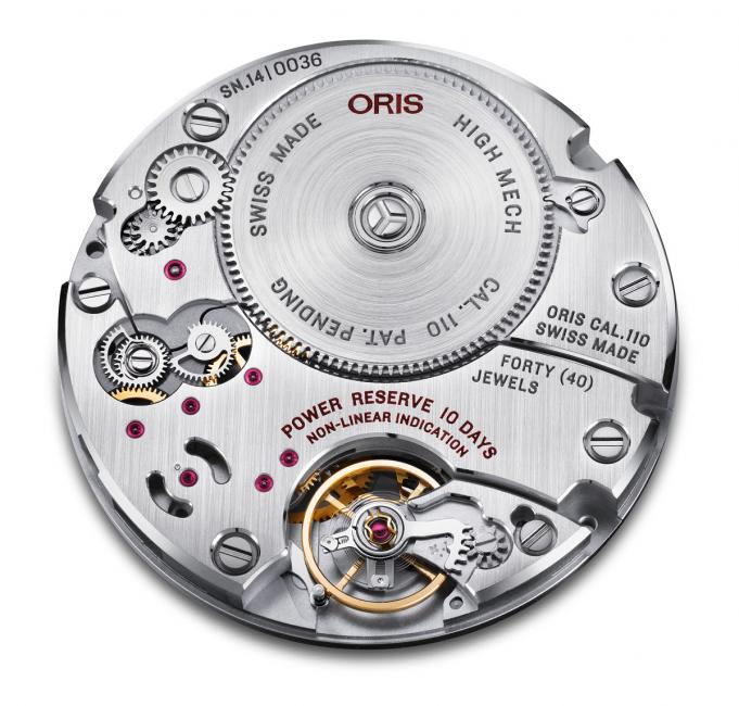 Oris Calibre 110 was developed in-house and produced in partnership with Swiss specialists.