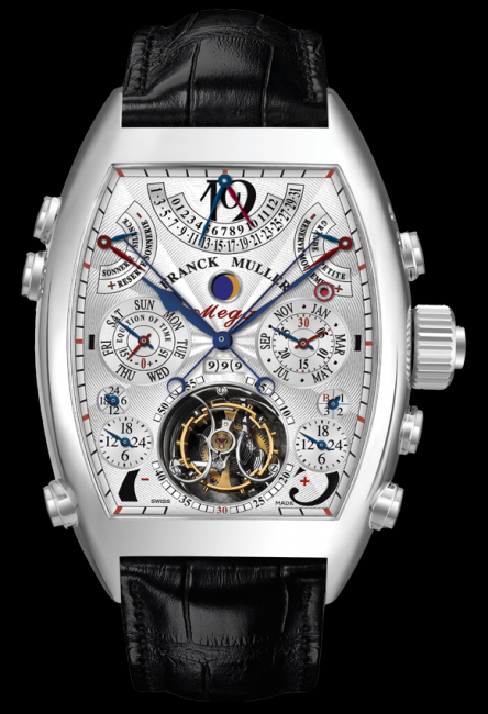 Franck Muller Aeternitas Mega 4, featuring 36 complications, using 1483 components and 99 jewels.