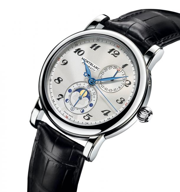 Montblanc Star Twin Moonphase powered by calibre MB 29.13 was constructed for a new type of complication that shows the moon's phases in both the Northern and Southern hemispheres and the age of the moon in days