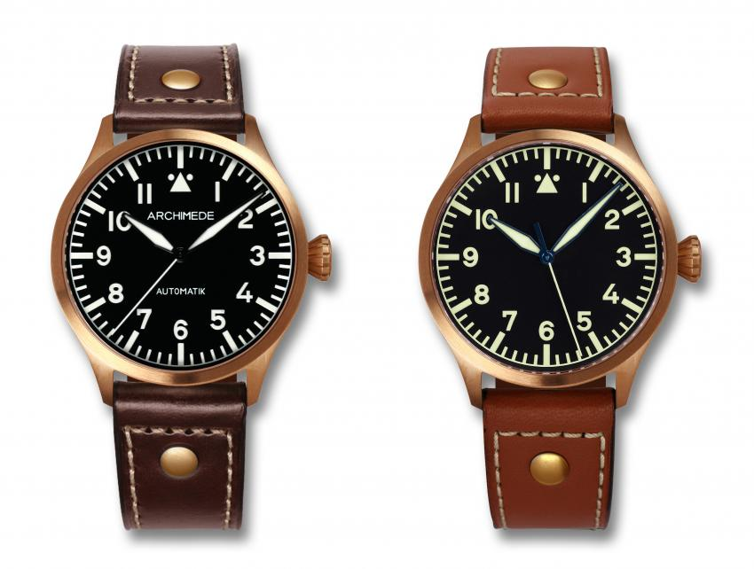 The new ARCHIMEDE Pilot 39 Bronze is a smaller version of the very successful Pilot 42 Bronze