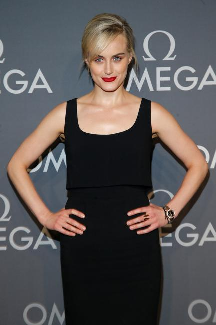 Actress, Taylor Schilling at the OMEGA Dark Side of the Moon Event