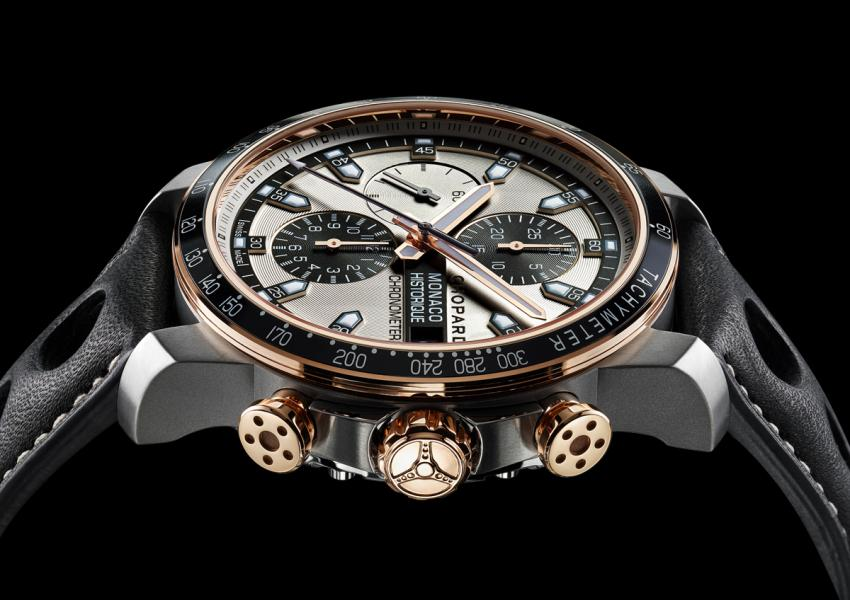The three models of the GPMH collection come also in a combination of titanium and rose gold.