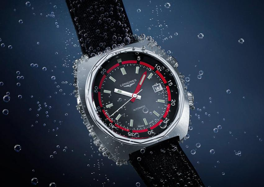 The three hands version of the new Longines Heritage Diver