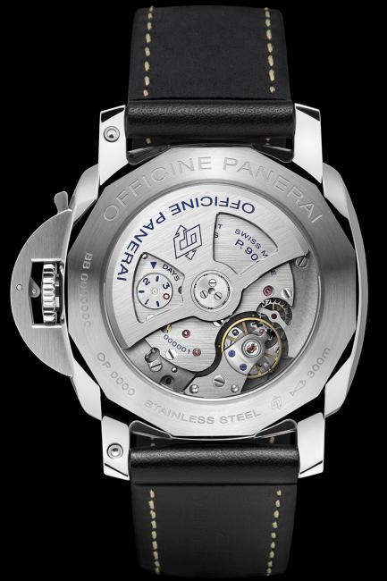 The back of the Luminor 1950 3 Days GMT 24H (PAM00531)