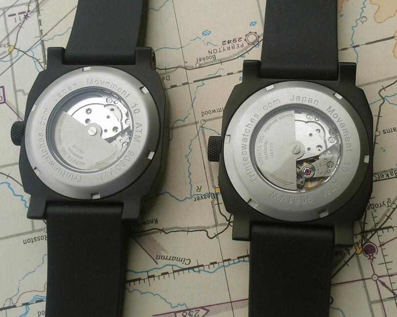 The back of the Trintec Altimeter and Airspeed.