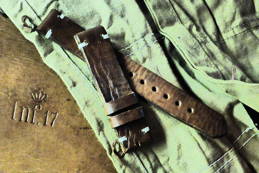 This one is from a Swedish ammo pouch. The leather was undated, but the pouch is from WWII vintage.