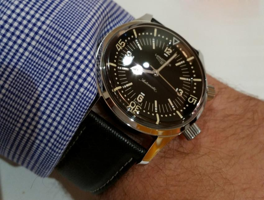 Wrist-shot of the Longines Legend Diver