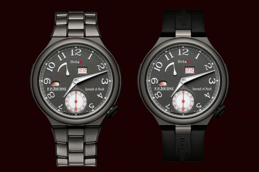 F.P.Journe's latest addition to the lineSport collection, the Octa Sport with Titanium grade 5 case. It comes on rubber strap or on titanium bracelet.
