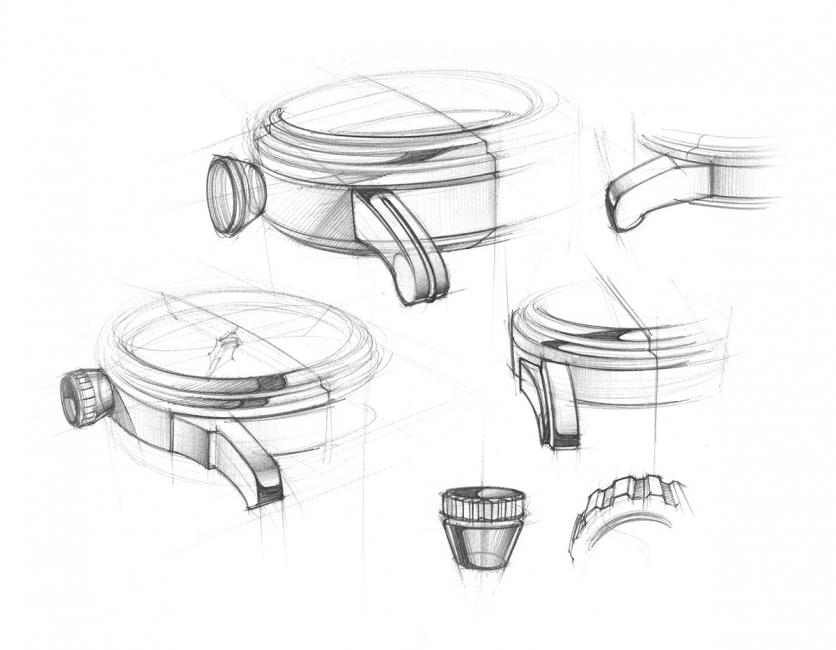 Detroit Watch Co pieces start as a hand drawn sketches. Looking for the perfect lug design.
