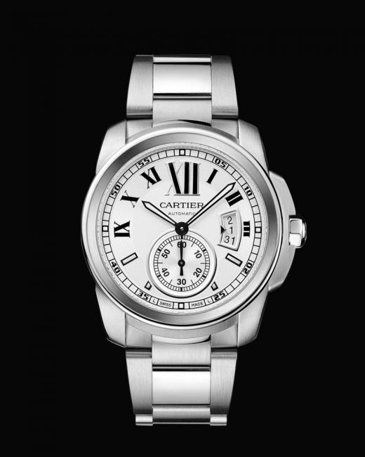 Calibre de Cartier with steel bracelet