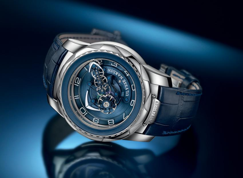 "Ulysse Nardin Blue Cruiser, a spectacular flying ""Carrousel-Tourbillon"""