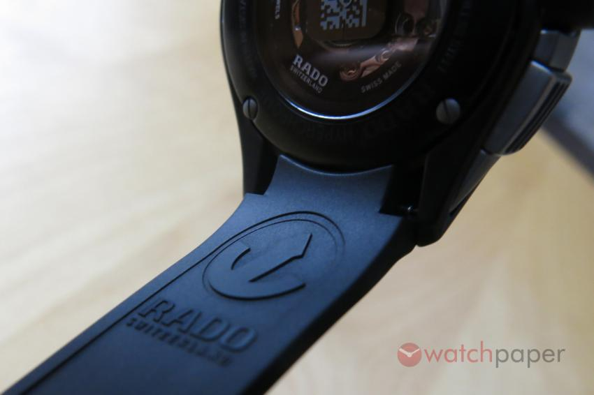 Rado logo inside the rubber strap.