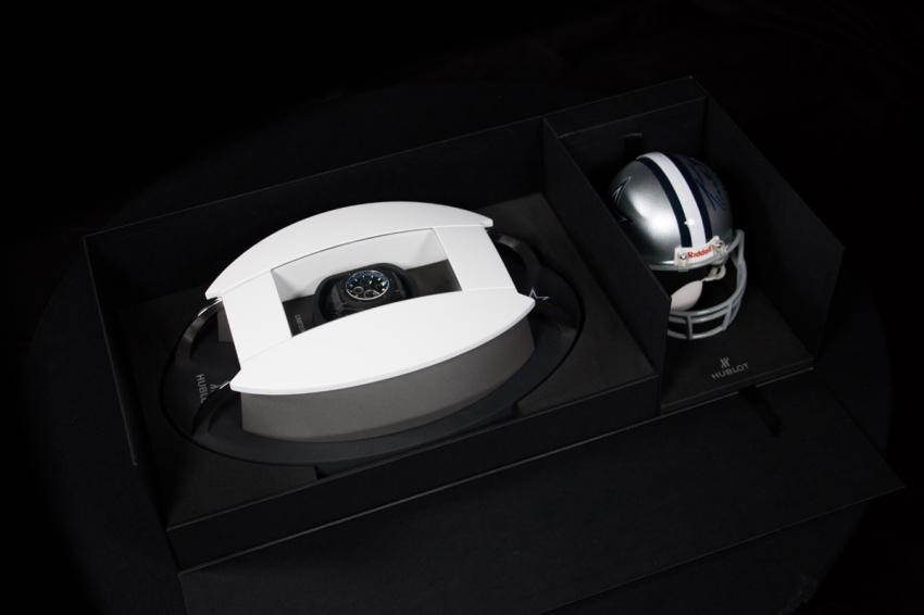 Hublot King Power Dallas Cowboys, a 48 mm micro-blasted black ceramic watch limited to 50 pieces.