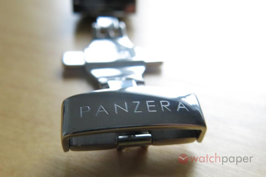 Panzera engraved on the clasp