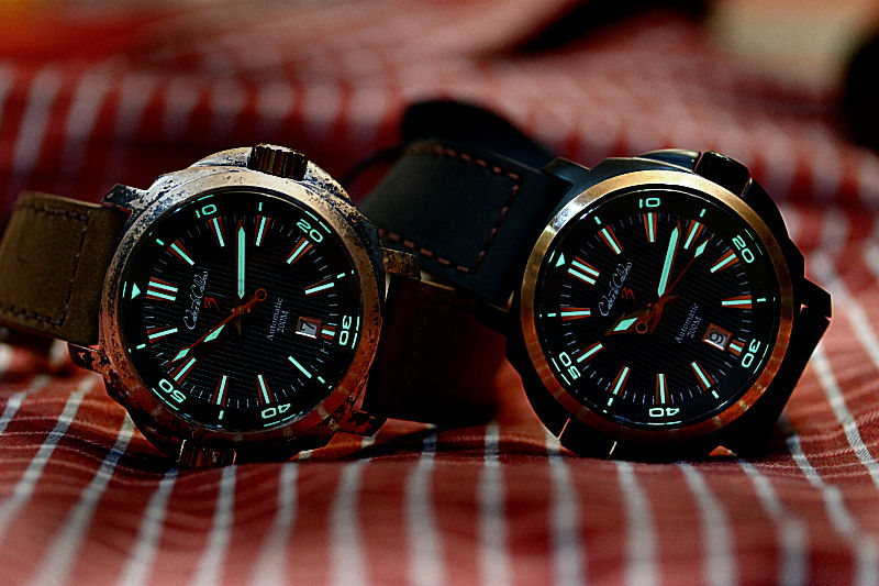 For great visibility in dark places, there is a generous amount of lume on the bezel and the dial.