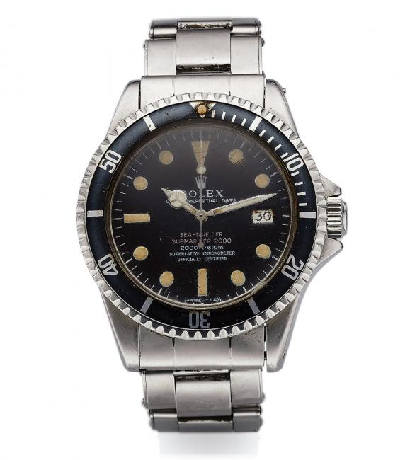One of the earliest known Rolex Ref. 1665 Sea-Dweller's ever recorded that formerly belonged to famed filmmaker and oceanographer Philippe Cousteau (Jacques Cousteau's son).