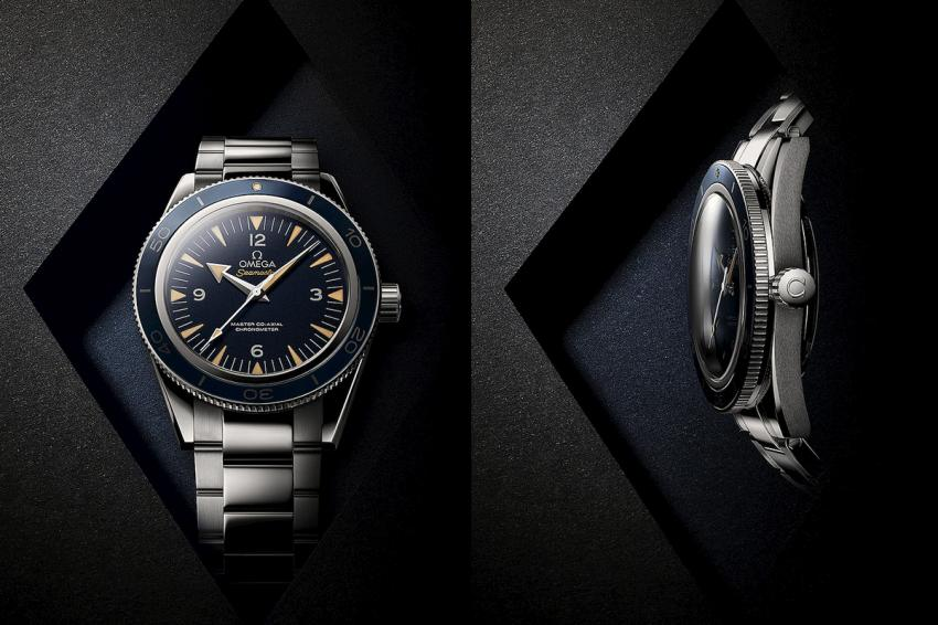 OMEGA Seamaster 300 with blue dial.