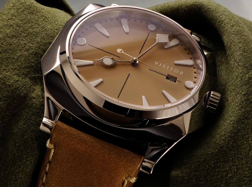 """The Calligraph Duneshore with cream dial called """"Beach""""."""