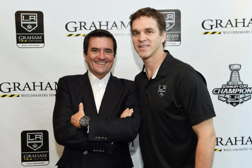 Eric Loth with Luc Robitaille